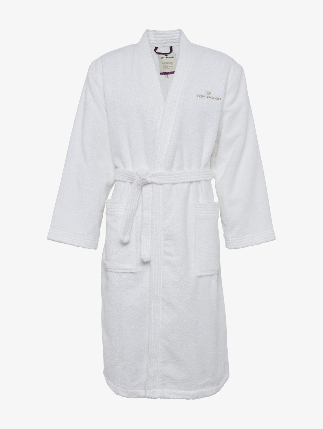 Tom Tailor Basic Bademantel, Unisex, white, Größe: S