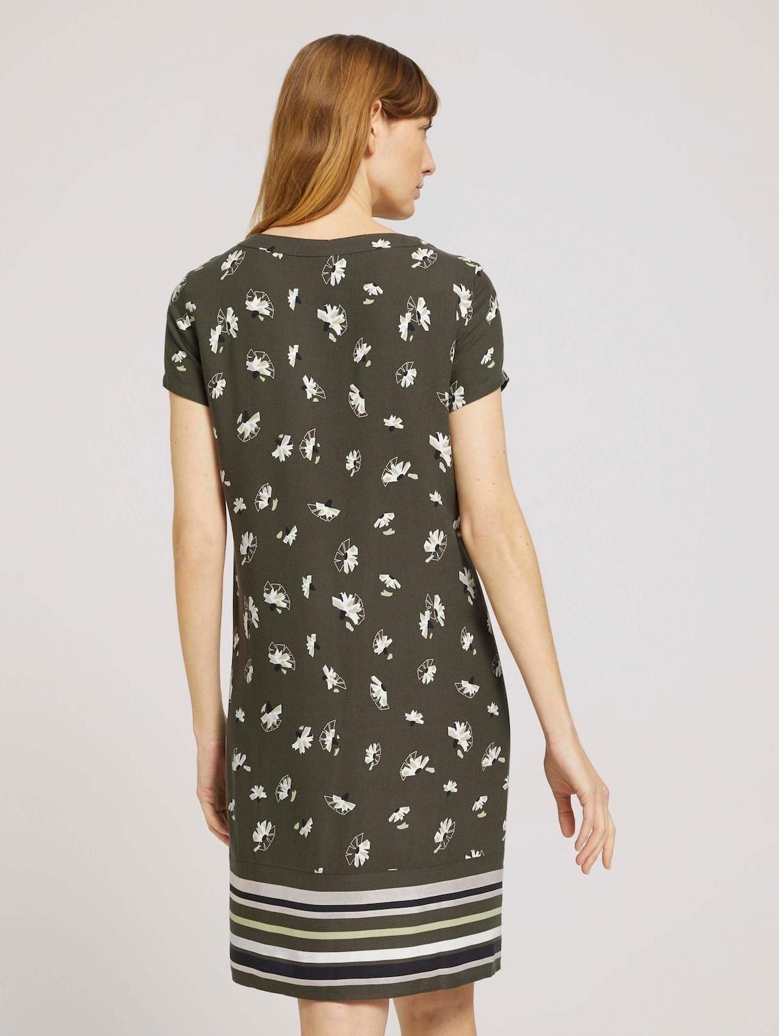 kleid mit blumenmuster (grün) - von tom tailor