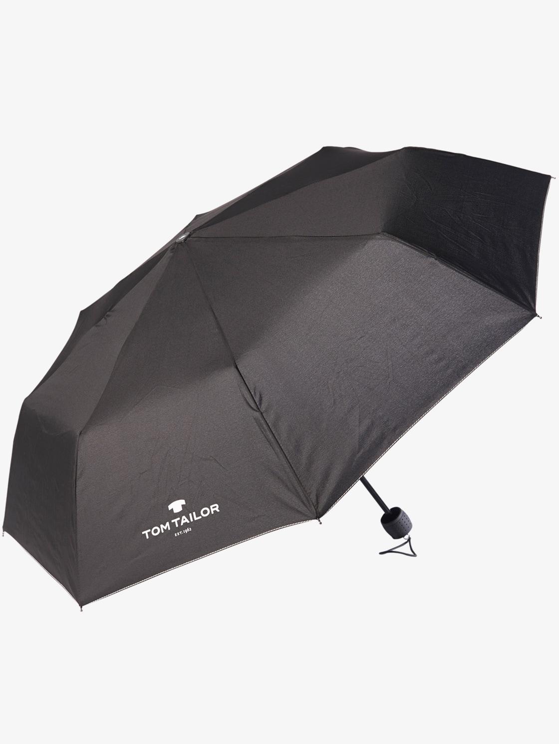 Tom Tailor klassischer Regenschirm, Unisex, black, Größe: OneSize