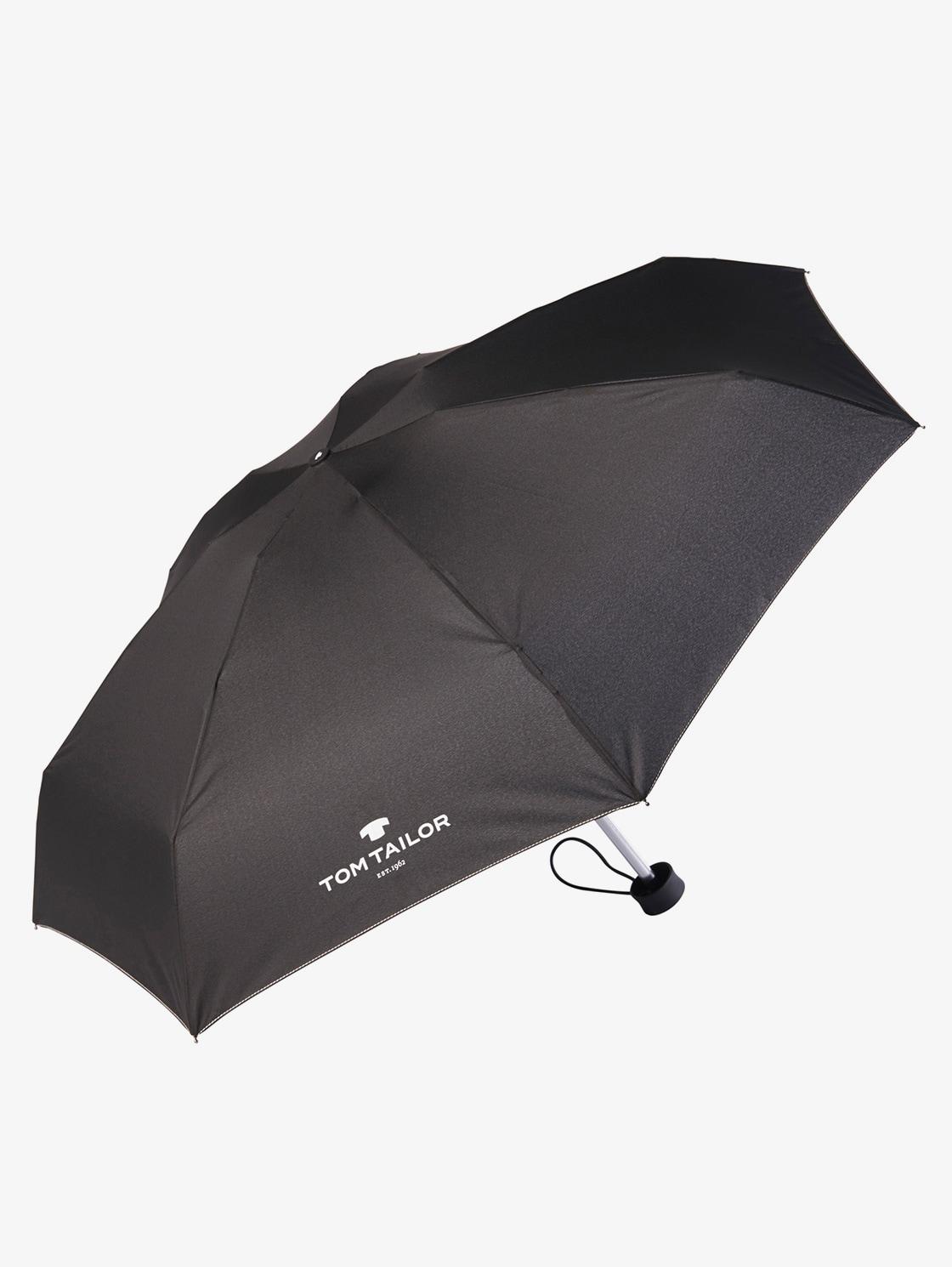 Tom Tailor Taschen Regenschirm, Unisex, black, Größe: OneSize