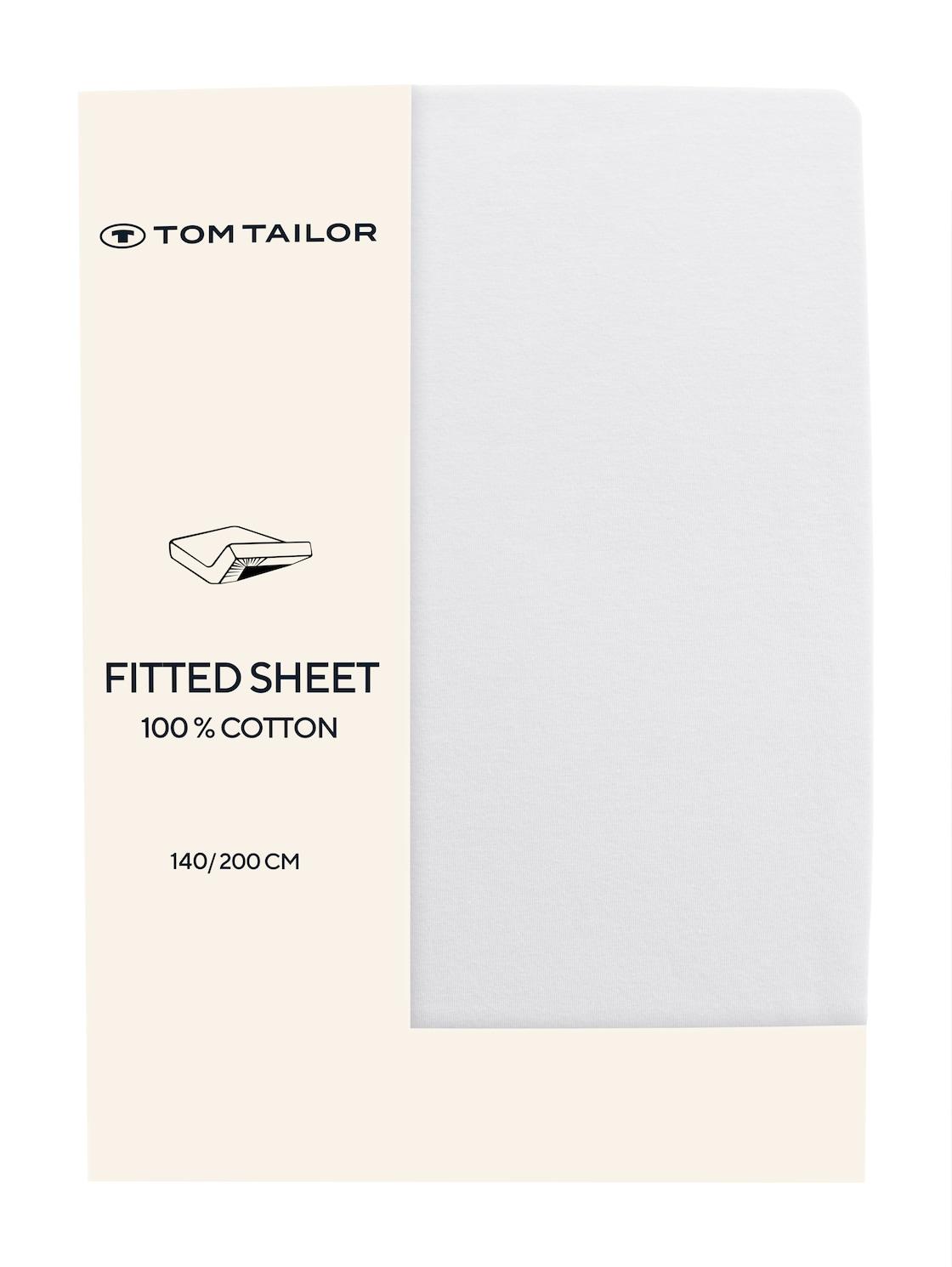 TOM TAILOR TOM TAILOR Unisex Spannbettlaken aus Jersey,  white, Größe: 140/200, weiß, unifarben, Gr 140/200