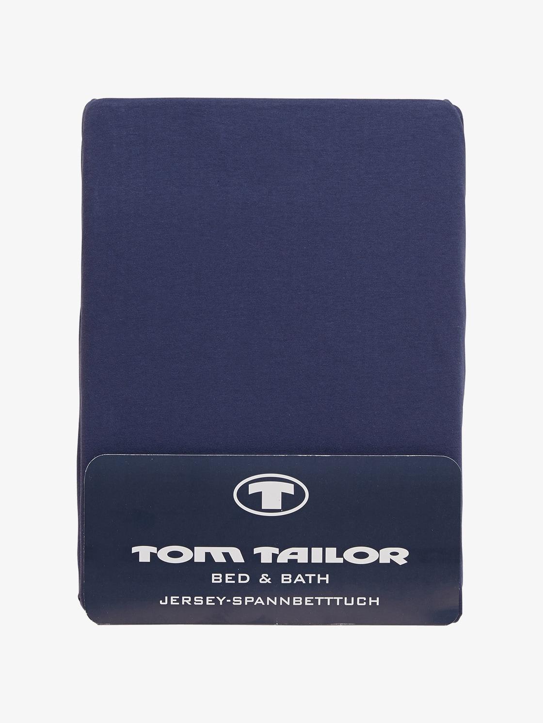 Tom Tailor Spannbettlaken aus Jersey, Unisex, indigo / D, Größe: 180/200