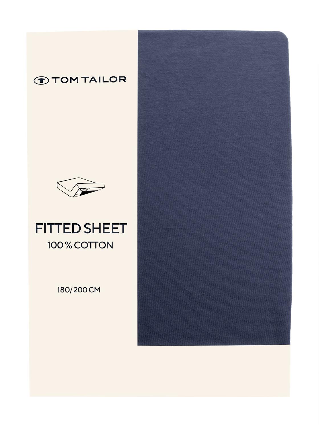 TOM TAILOR TOM TAILOR Unisex Spannbettlaken aus Jersey,  indigo / D, Größe: 180/200, blau, unifarben, Gr 180/200