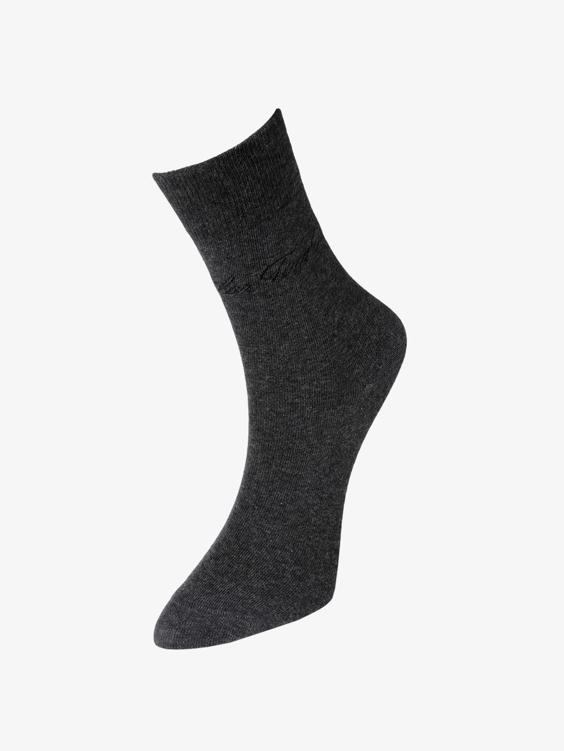 Tom Tailor Casual Socken im Doppelpack, Damen, anthracite melange, Größe: 35 38