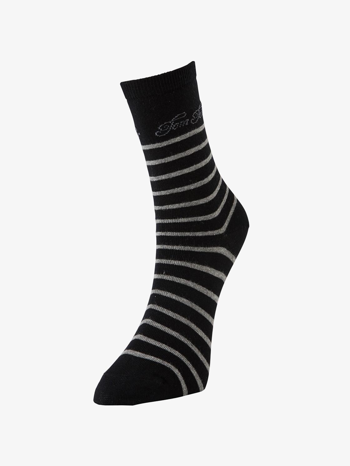 Tom Tailor Casual 2er Pack Socken mit Logo Schrift, Damen, black, Größe: 35 38