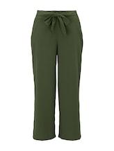 TOM TAILOR DENIM Damen Culotte Hose mit Bindegürtel, grün, Gr.XXL