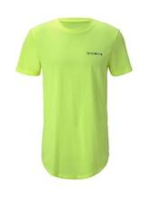 TOM TAILOR DENIM Herren T-Shirt mit Logo-Print, gelb, Gr.XL