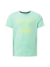TOM TAILOR Jungen T-Shirt mit Brust-Print, grün, unifarben mit Print, Gr.116/122