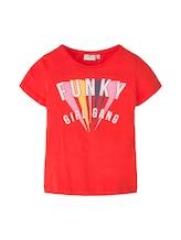 TOM TAILOR Mädchen T-Shirt mit Print, rot, Gr.176