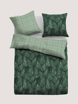 Satin bed linen with a leaf motif - 7 - TOM TAILOR