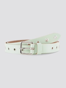 Leather belt with eyelets - 7 - TOM TAILOR Denim