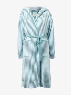 striped, hooded bathrobe - 7 - TOM TAILOR
