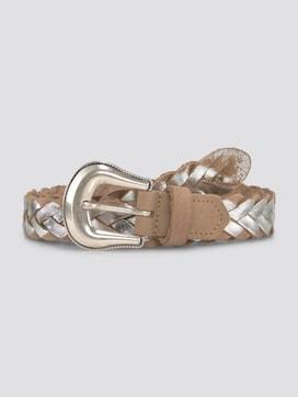 Braided leather belt with a metallic dye - 7 - TOM TAILOR Denim