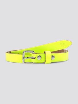Neon waist belt made of leather - 7 - TOM TAILOR Denim