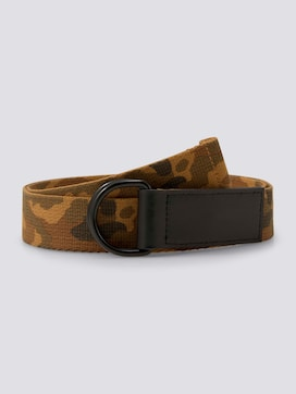 Camouflage geweven riem - 7 - TOM TAILOR Denim