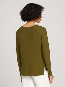 Pullover mit Wabenstruktur - 2 - TOM TAILOR