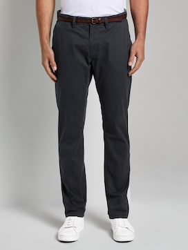 Travis regular chino met riem - 1 - TOM TAILOR