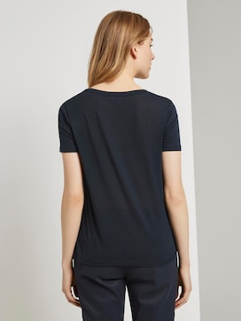 T-shirt met V-hals - 2 - TOM TAILOR Denim