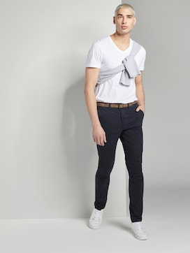Chino broek met riem - 3 - TOM TAILOR Denim