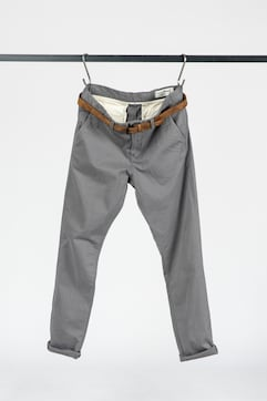 Chino trousers with belt - 1 - TOM TAILOR Denim