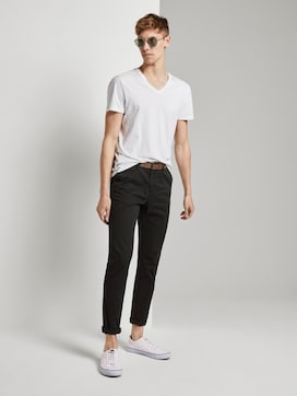 Chino Hose mit Gürtel - 3 - TOM TAILOR Denim
