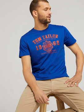 T-Shirt mit Logo-Print - 5 - TOM TAILOR