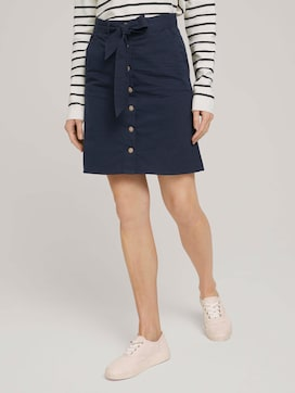 Skirt with button strip - 1 - TOM TAILOR