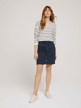 Skirt with button strip - 3 - TOM TAILOR