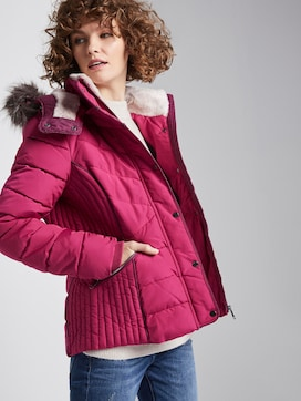 Quilted jacket with imitation fur - 5 - TOM TAILOR