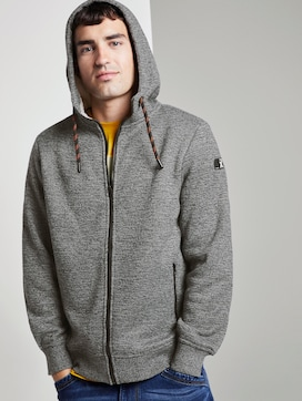 Knitted jacket with hood - 5 - TOM TAILOR