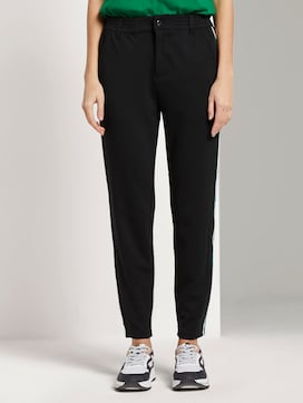 Jogging bottoms with satin stripes - 1 - TOM TAILOR Denim