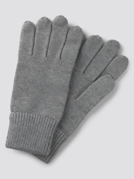Simple knitted gloves - 7 - TOM TAILOR