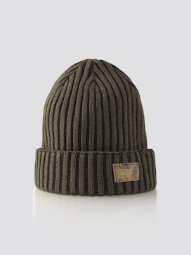 Beanie in ribbed look - 7 - TOM TAILOR