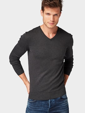 Basic Strickpullover - 5 - TOM TAILOR