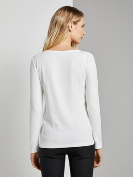 Basic long-sleeved shirt - 2 - TOM TAILOR
