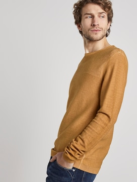 Knitted jumper with structure mix - 5 - TOM TAILOR