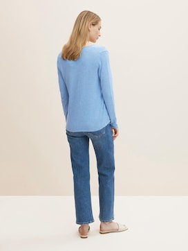 Jumper with V-neckline - 2 - TOM TAILOR