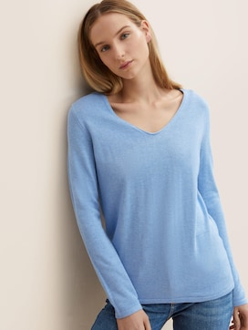 Jumper with V-neckline - 5 - TOM TAILOR
