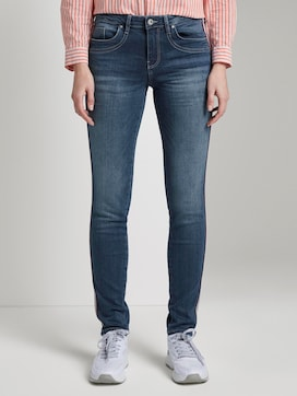 Alexa Slim Jeans with tape on sides - 1 - TOM TAILOR