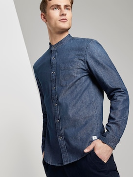 Denim shirt with chest pocket - 5 - TOM TAILOR Denim