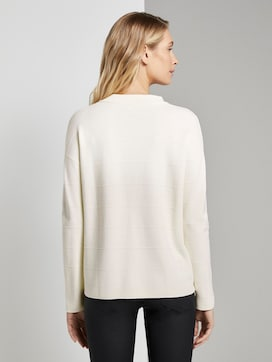 Jumper with knitted pattern - 2 - TOM TAILOR