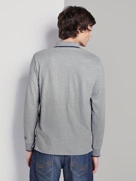 Kylin: Langarm-Poloshirt mit Print - 2 - TOM TAILOR