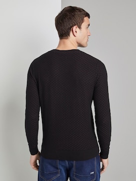 Jumper with all-over pattern - 2 - TOM TAILOR