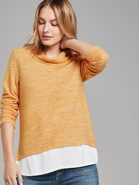 Sweater im 2-in-1-Look - 5 - TOM TAILOR