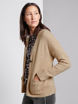 Knitted jacket in bouclé look - 5 - TOM TAILOR