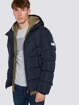Pufferjacke mit Teddyfell in der Kapuze - 5 - TOM TAILOR Denim