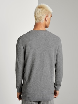 Knitted jumper with fine structure - 2 - TOM TAILOR Denim
