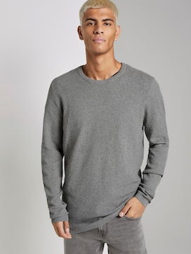 Knitted jumper with fine structure - 5 - TOM TAILOR Denim
