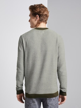 Pullover in Jacquard Optik - 2 - TOM TAILOR Denim