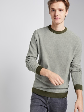 Pullover in Jacquard Optik - 5 - TOM TAILOR Denim